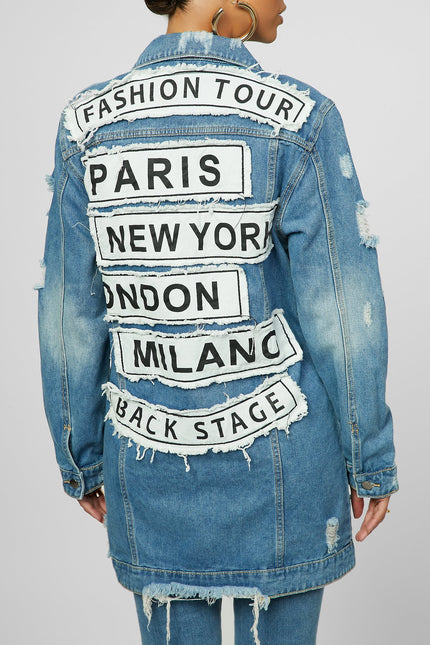Back On Track Denim Jacket
