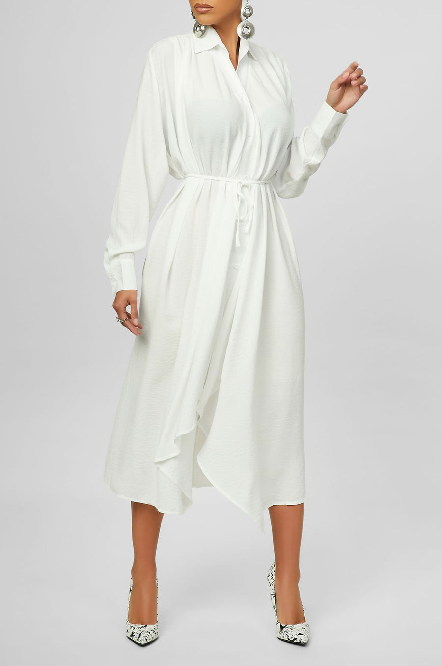 Getting It Done Dress (White)