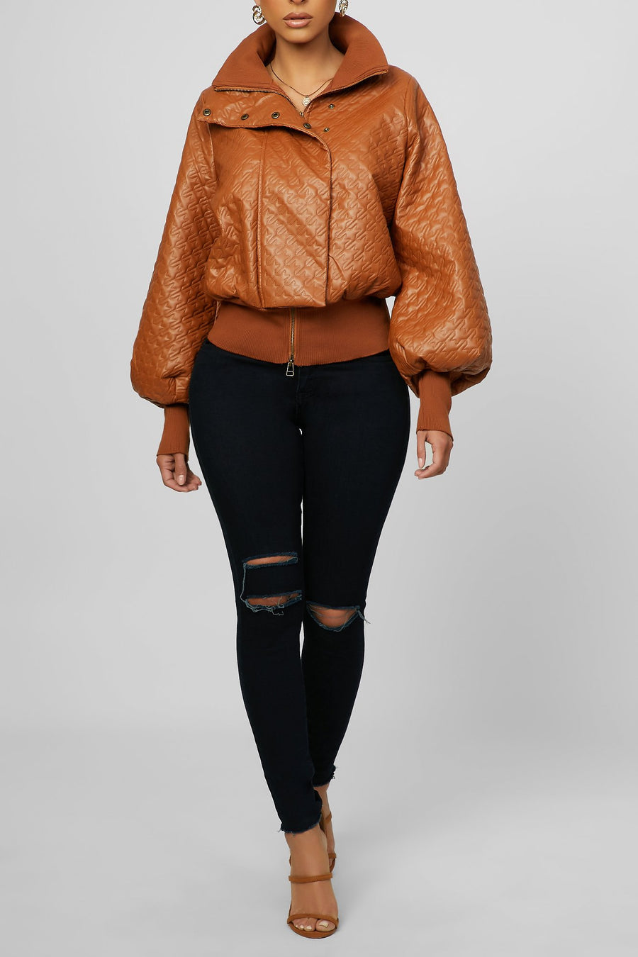 Keeping It Cool Bomber (Brown)