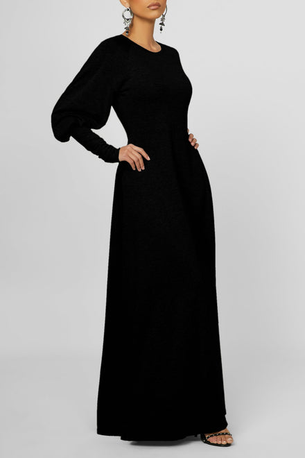 Always Sleek Maxi Dress (Black)