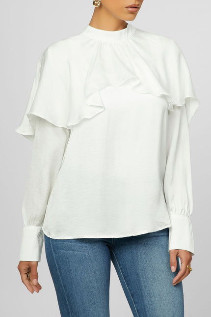 Sheer Me Up Top - White