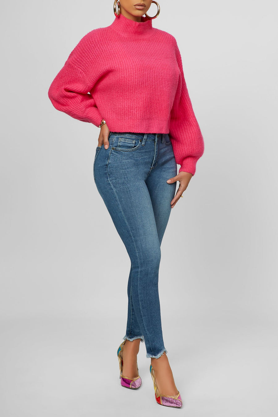 Next To Me Knit Sweater (Pink)