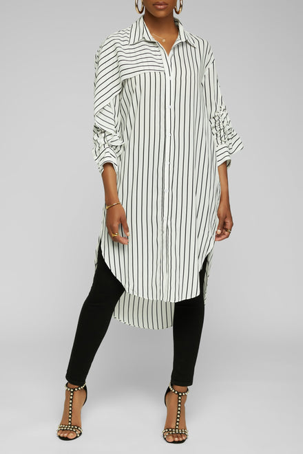 Making It Striped Down Top - White/Black