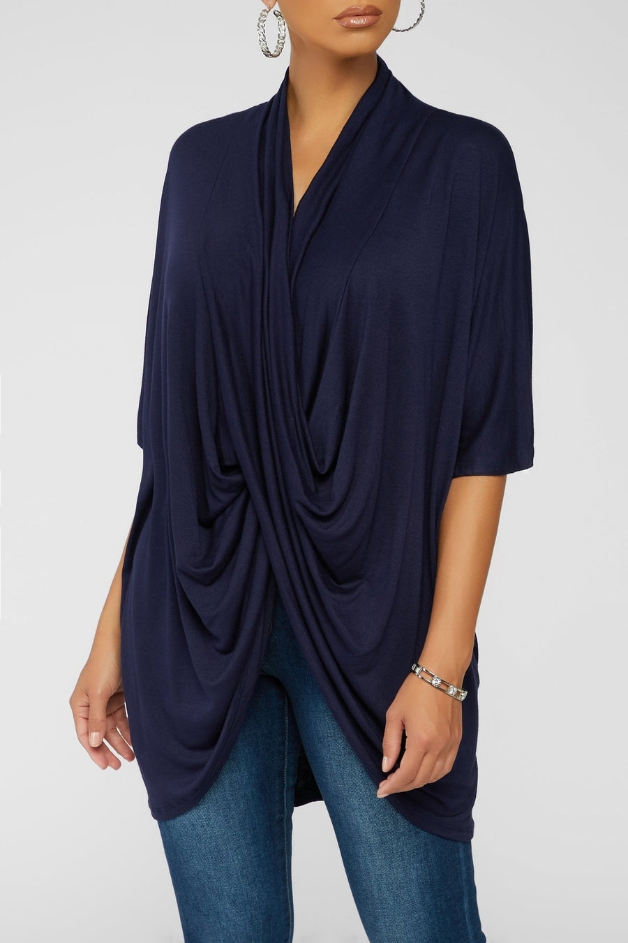 Twist And Turn Top - Navy
