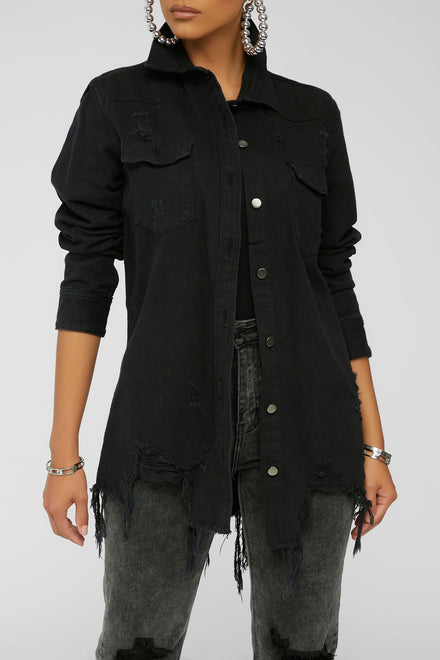 Denim Craze Jacket (Black)