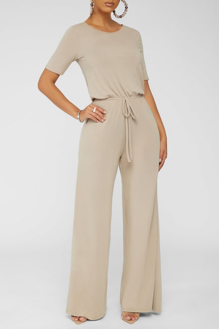 Jumping For Joy Jumpsuit (Ash Mocha)