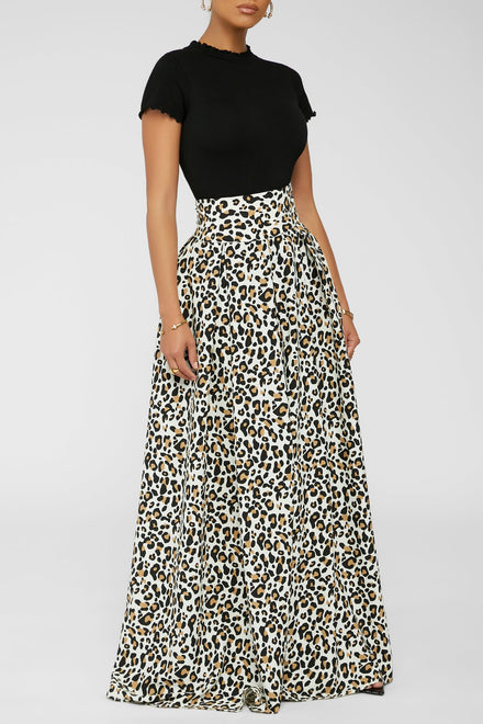 Pounce And Pose Maxi Skirt -Ivory
