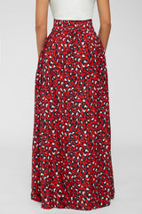 Pounce And Pose Maxi Skirt -Red
