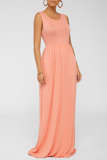 A Breeze Maxi Dress (Coral)