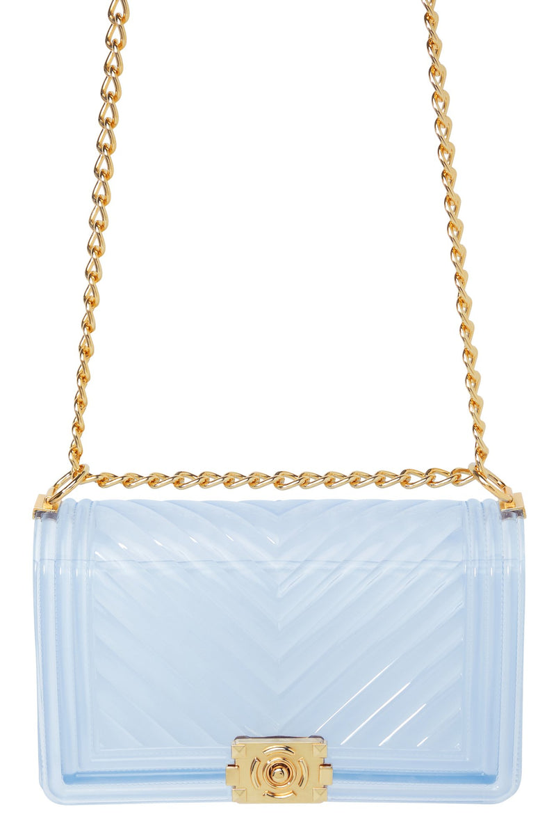 Clearly A Statement Bag - Clear blue