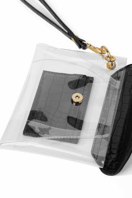 Clear As Slay Mini Bag - Black