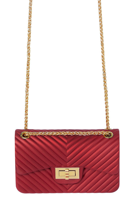 All Lined Up Mini Bag - Deep Red