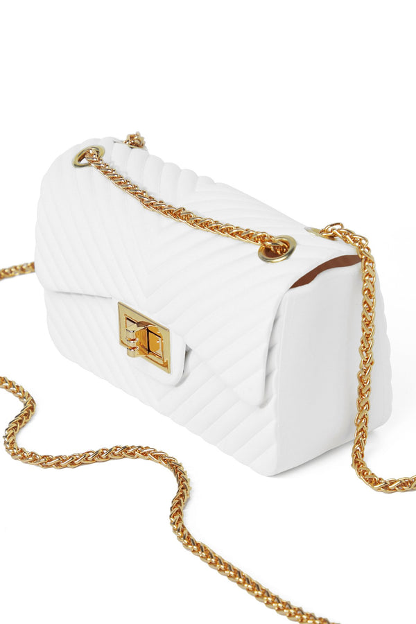 All Lined Up Mini Bag - White