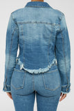 Midnight Hour Denim Jacket - Medium