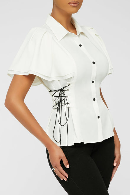Working Strings Out Top - White