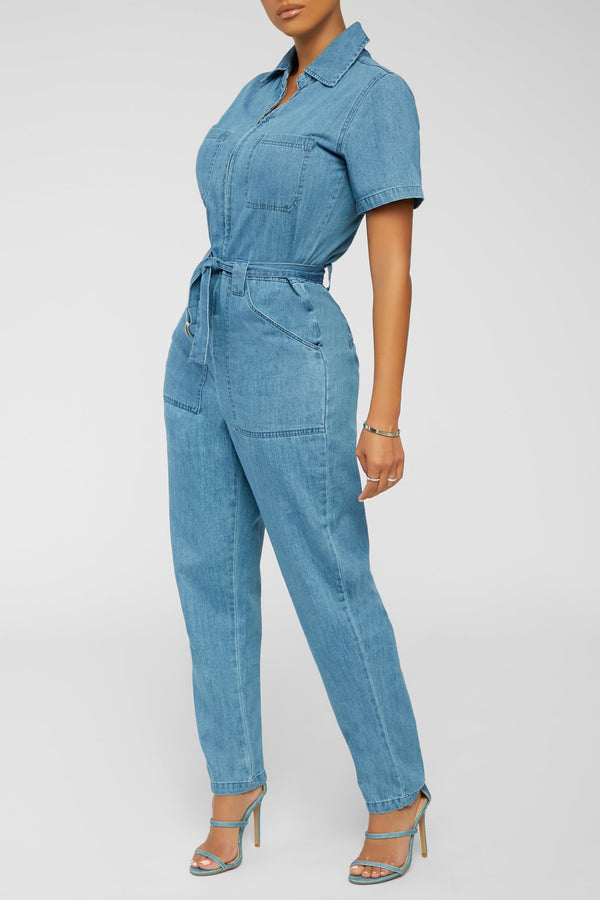 All Classic Jumpsuit - Blue Denim