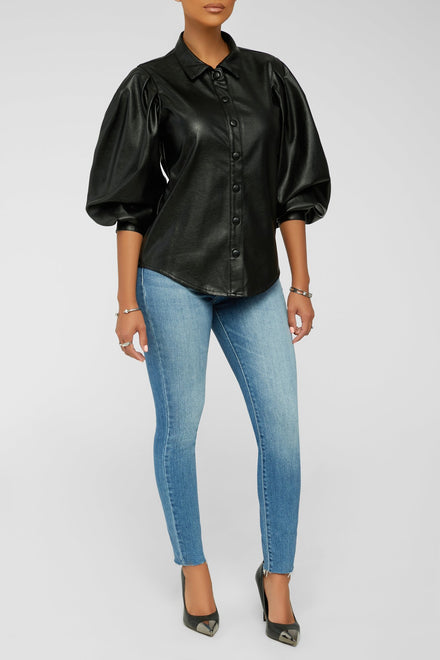 Leather Lovers Top - Black