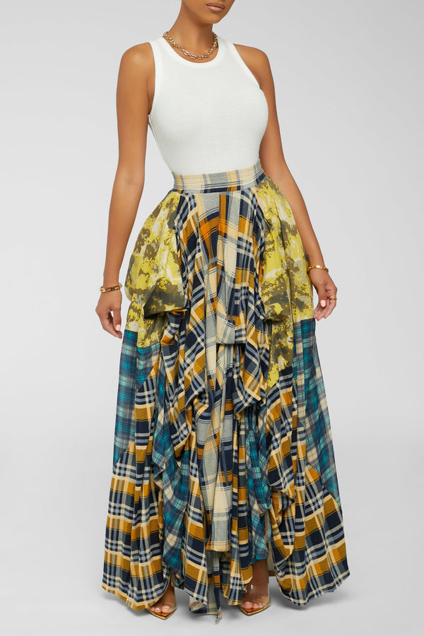 Damsel In Distress Skirt - Yellow