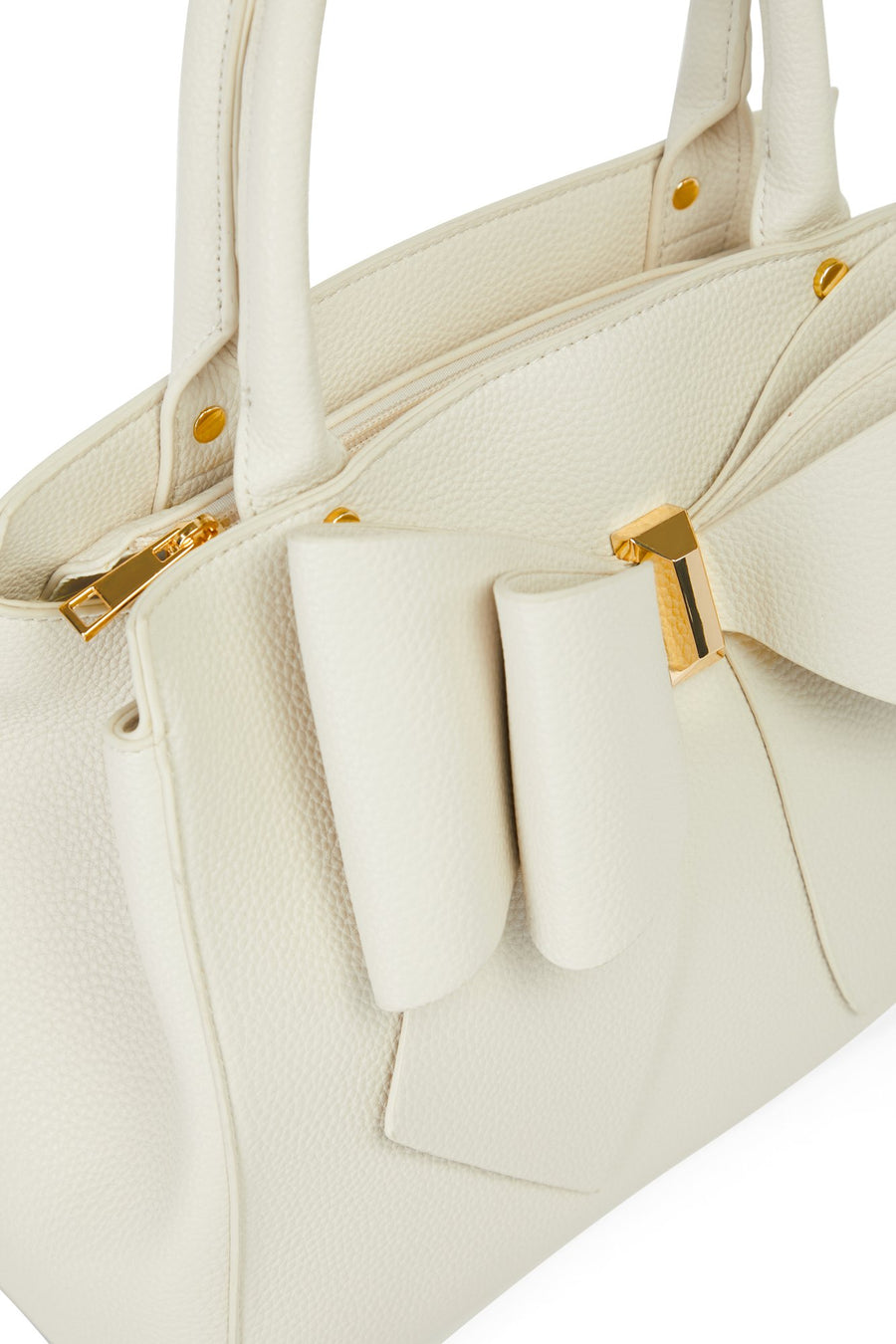 Bow Time Bag - Ivory