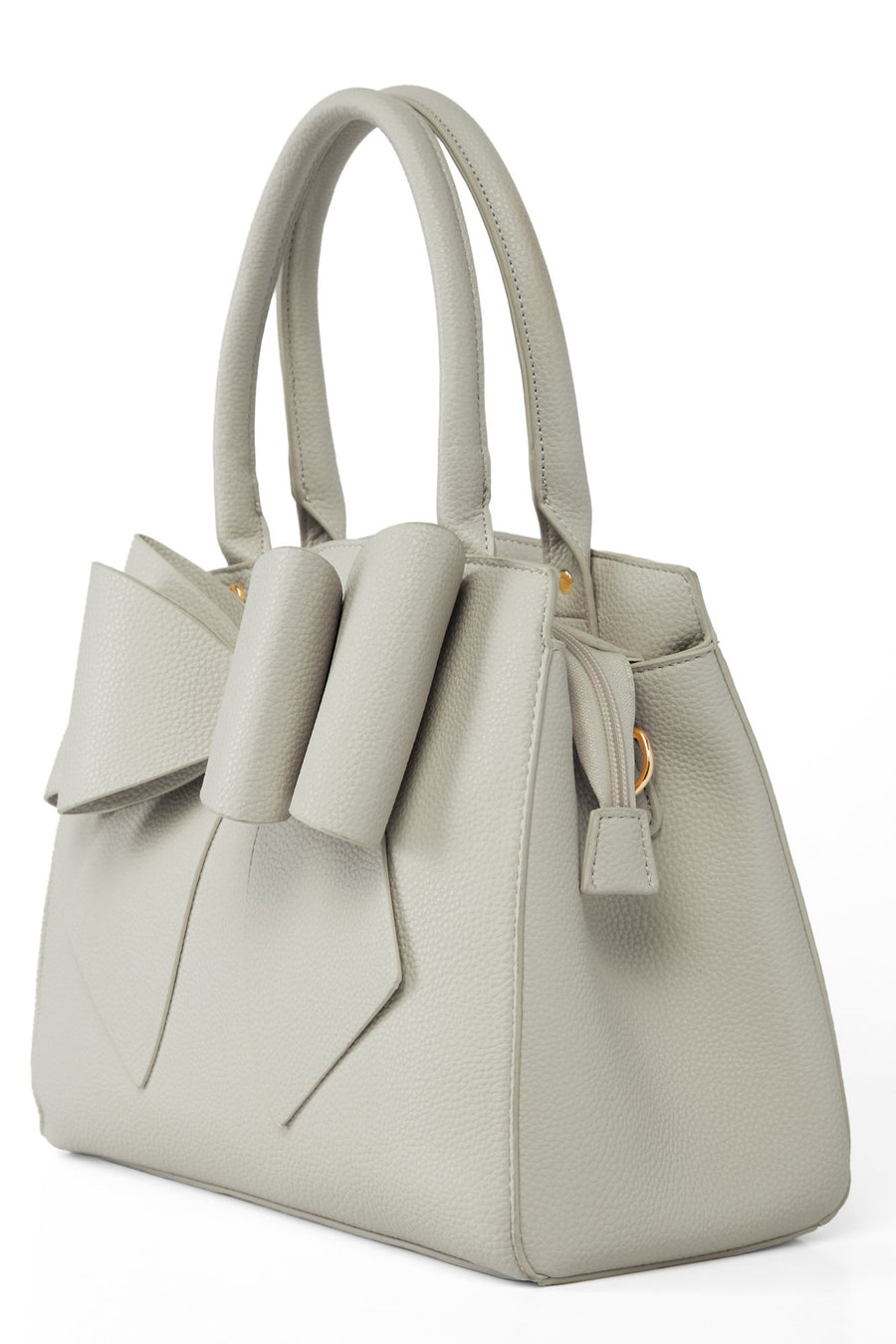 Bow Time Bag - Grey