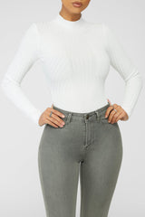 Knit Decision Bodysuit - White