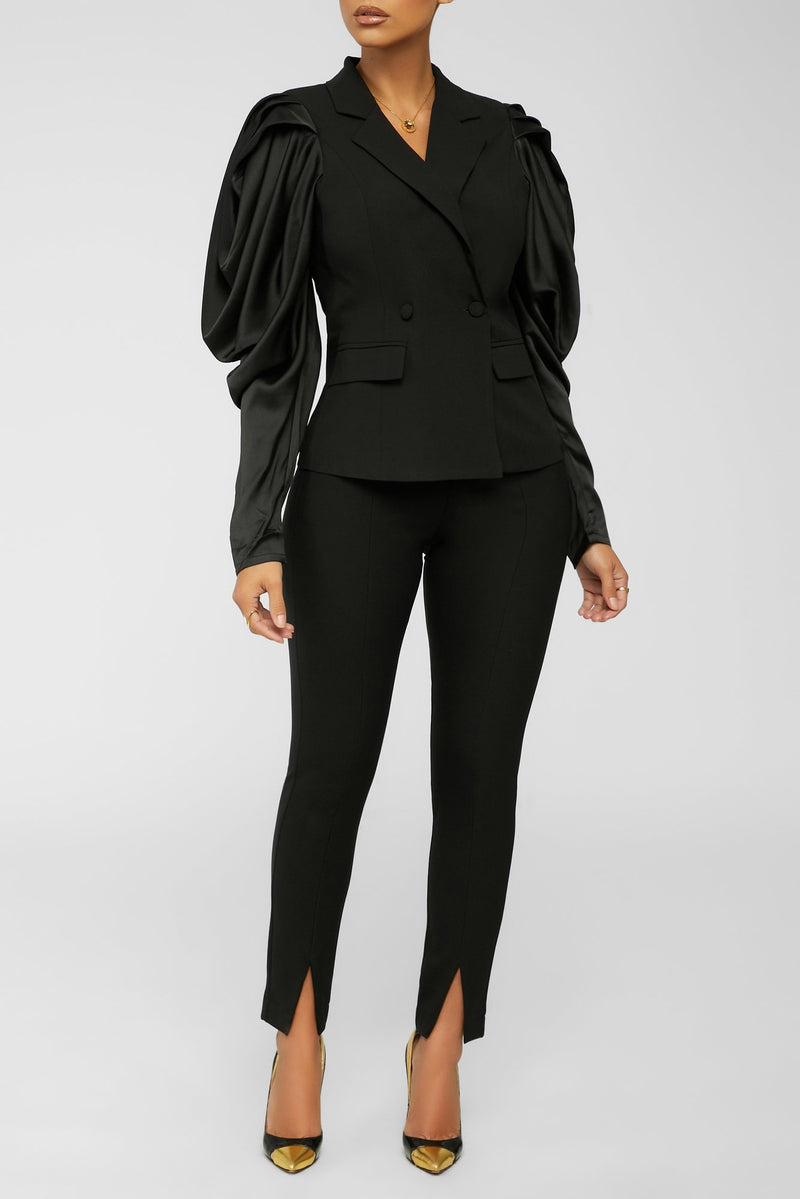 Fancy Business Blazer - Black