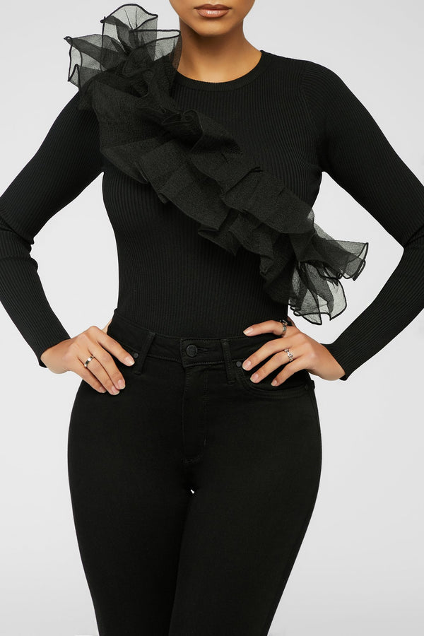 Play It Tulle Top - Black