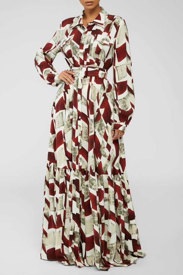 Breaking Free Maxi Dress - Wine