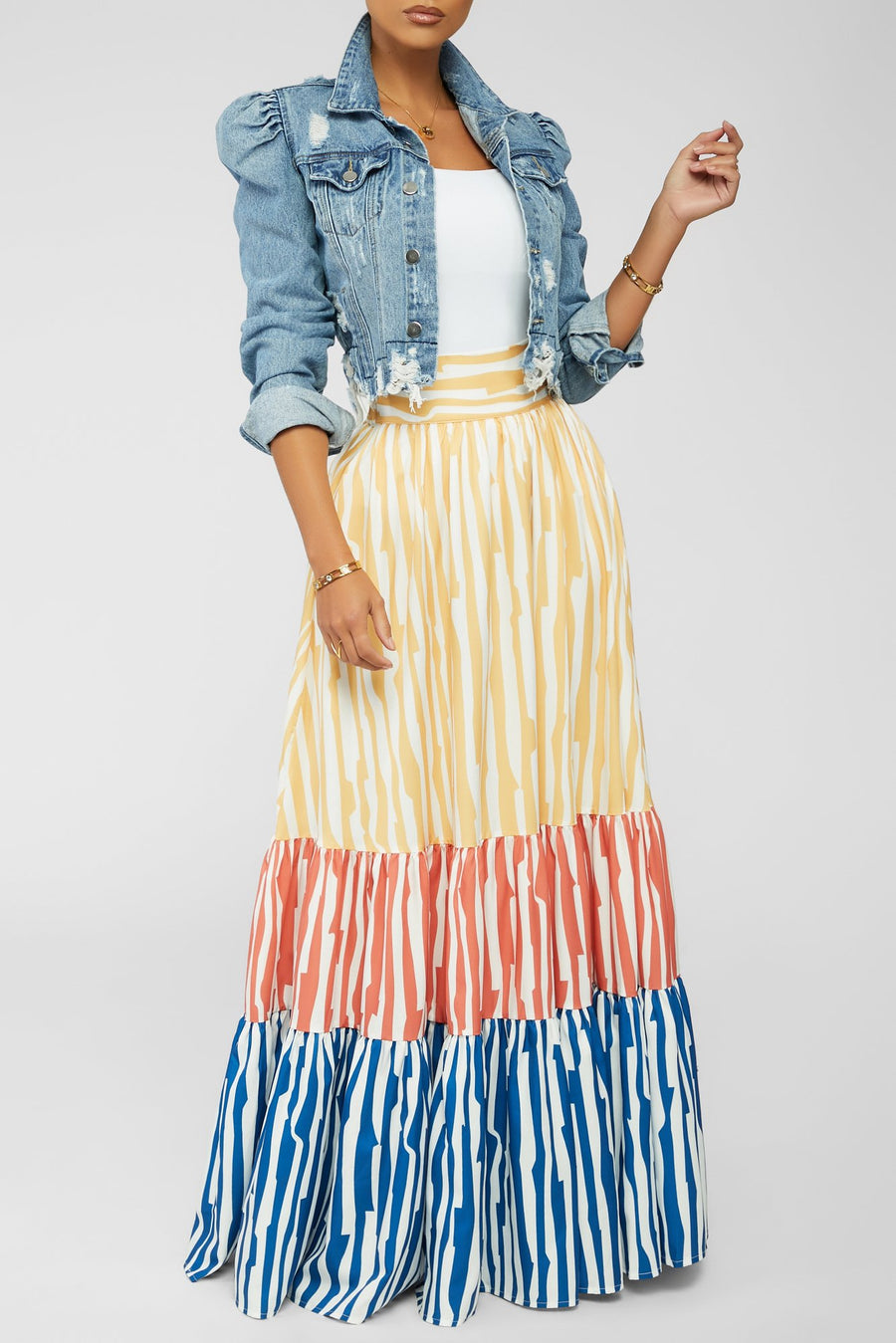 Striped Vision Skirt