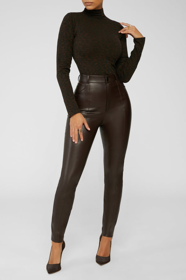 Animal Instincts Turtleneck - Brown