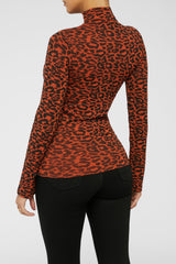 Animal Instincts Turtleneck - Rust