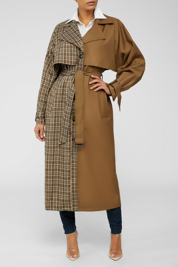 Double The Look Trench Coat - Brown