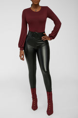 A Classic Statement Bodysuit - Burgundy