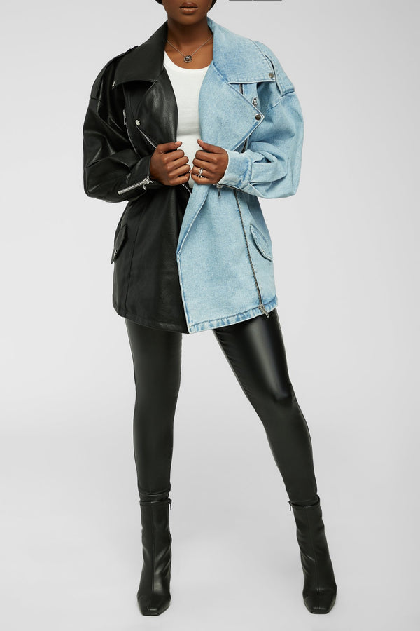 Double Dose Of Love Jacket - Blue/Black