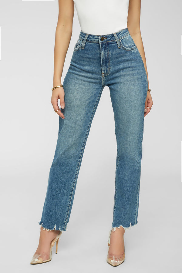 Straight Like That Jeans - Medium Denim