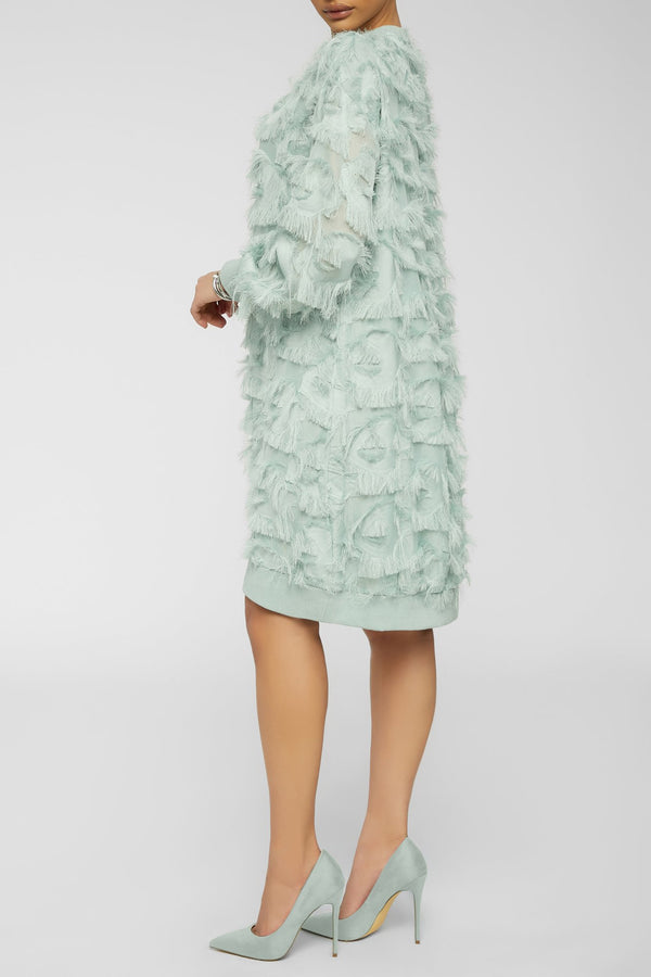 feeling all fuzzy dress - mint