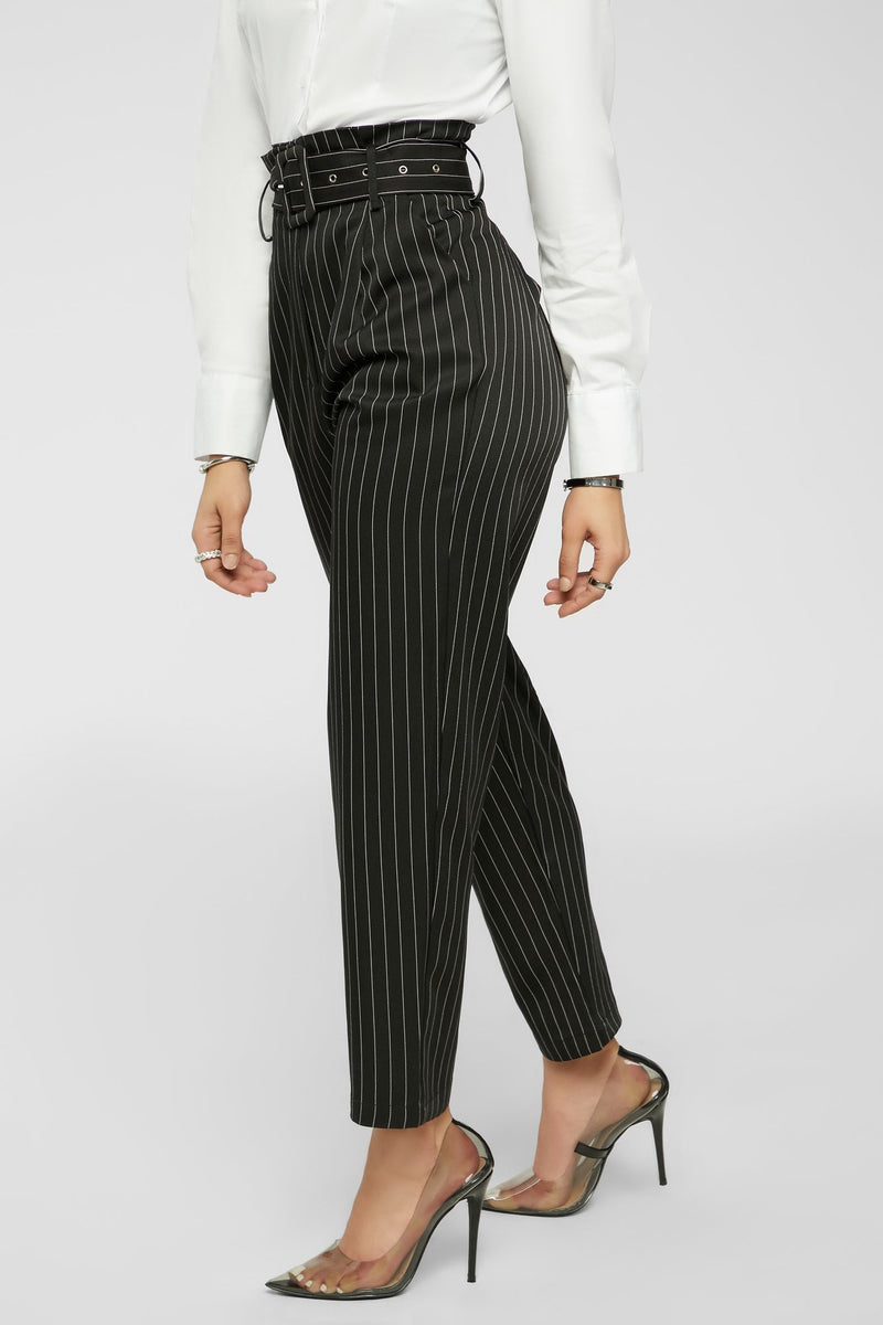 Business As Usual Pants -  Black/White