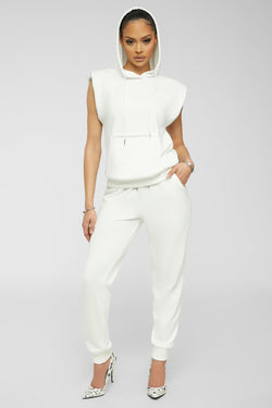 Comfort Zone Jogger Set - White