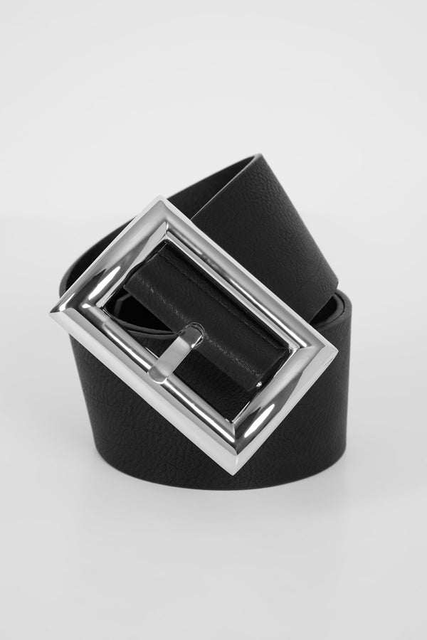 Buckle up belt - silver