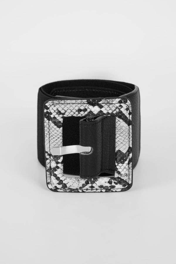 Prints on prints belt - Grey