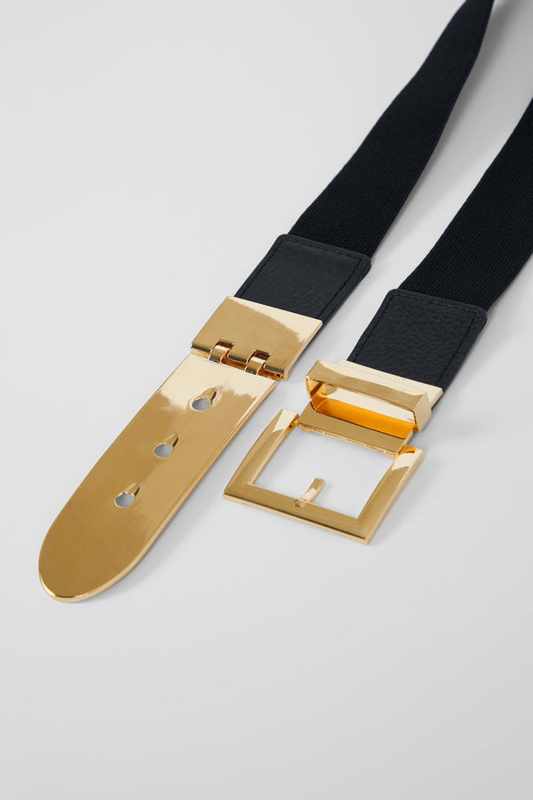 FASTENED TIGHT BELT - GOLD