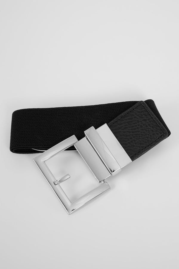 Fastened Tight Belt - Silver
