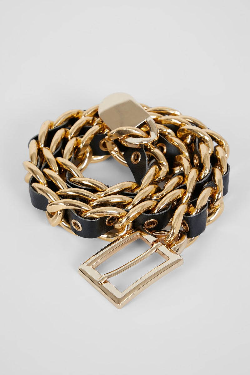 CHAIN REACTION BELT - GOLD