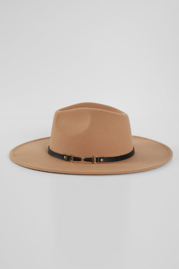 Buckle Down Hat - Camel