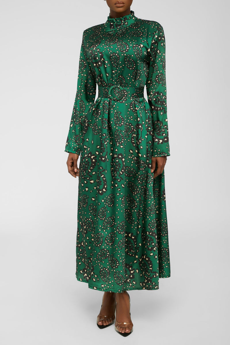 Spot Your Desire Dress - Green