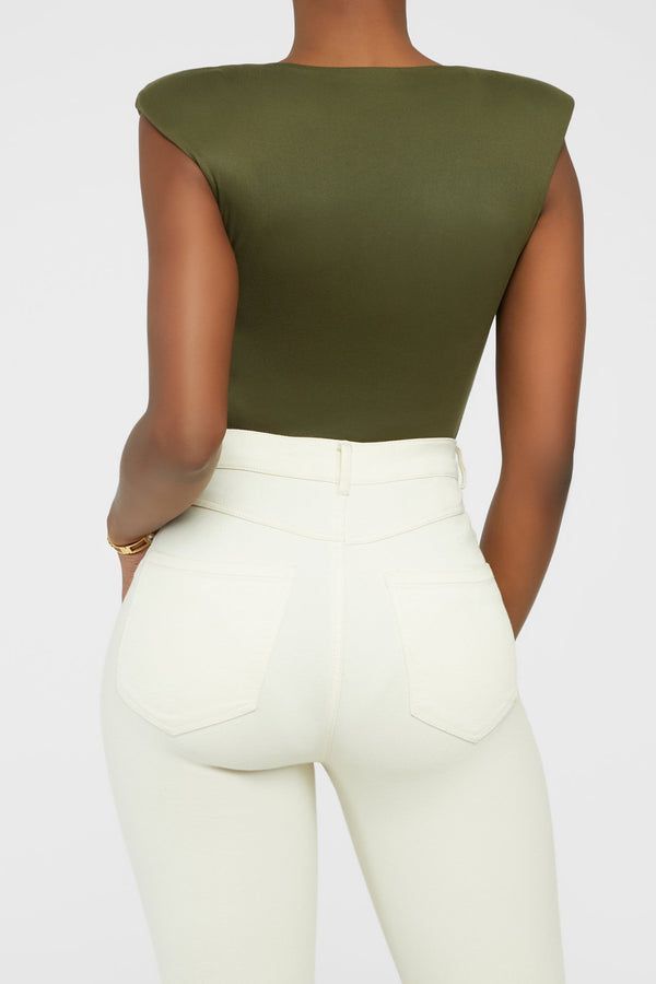 On The Run Bodysuit - Olive