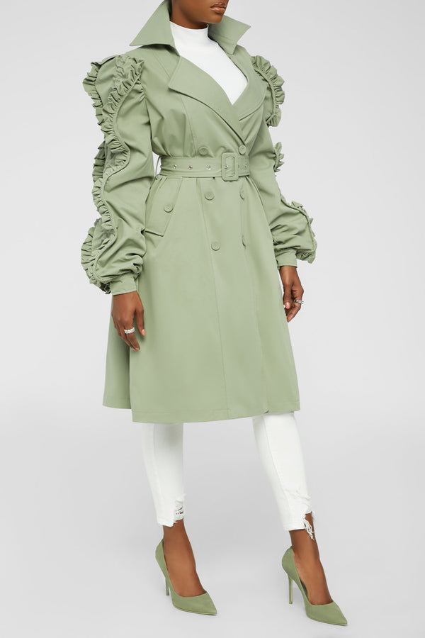 Rooftop Views Coat - Sage