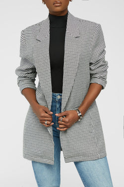 This Means Business Blazer - White/Black