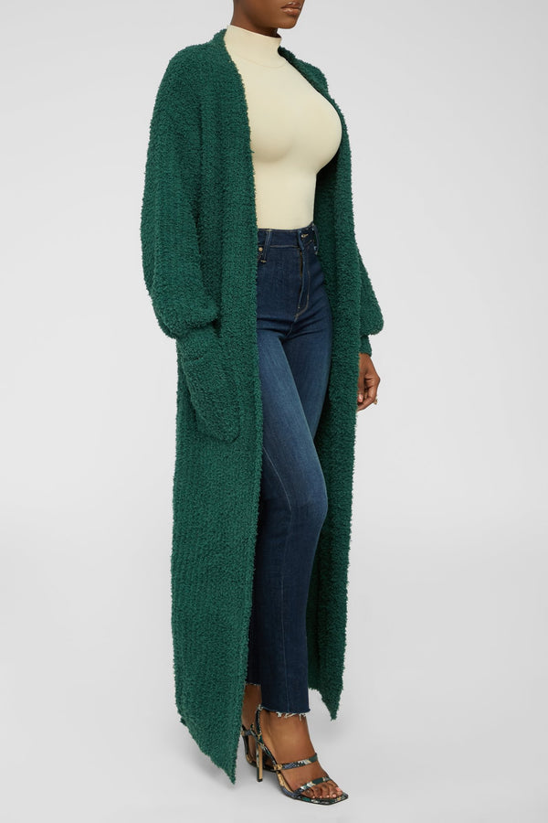 Thinking Green Cardigan - Green