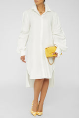 Drama Sleeve Dress - WHITE